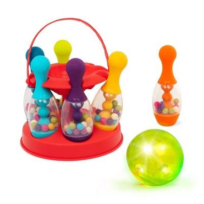 B. toys Bowling Set for Kids Let's Glow Bowling!