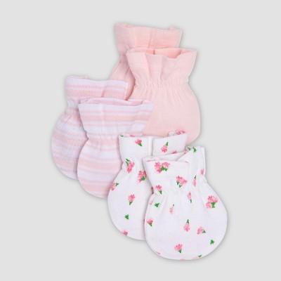 Burt's Bees Baby® Organic Cotton Girls' 3pk Mittens - Pink