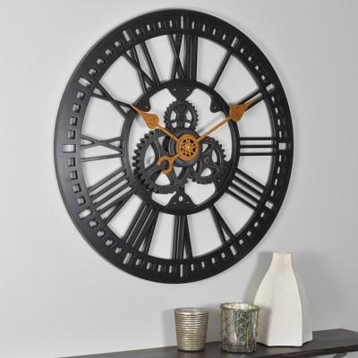 "24"" Roman Gear Wall Clock Oil Rubbed Bronze - FirsTime & Co."
