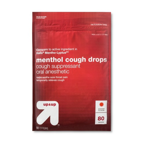 Menthol Cough Drops - Cherry - 80ct - Up&Up™ - image 1 of 2