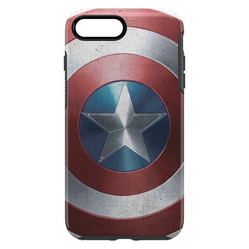 new style 475cf 50a5d OtterBox Apple iPhone 8 Plus/7 Plus Marvel Symmetry Clear Case - Captain  America