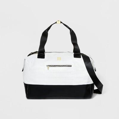 Colorblock Mesh Weekender Bag - JoyLab™ White