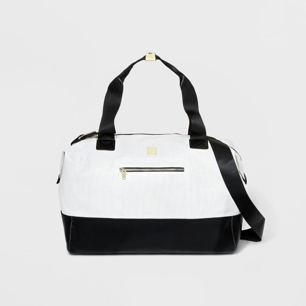 Colorblock Mesh Weekender Bag - JoyLab White