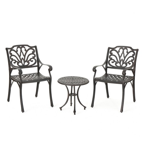 Lola 3pc Cast Aluminum Chat Set - Bronze - Christopher Knight Home - image 1 of 4
