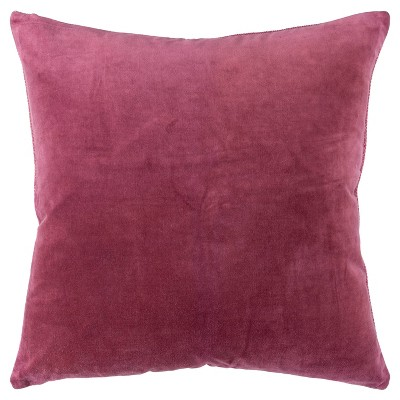 """22""""x22"""" Oversize Square Throw Pillow Cover Berry - Rizzy Home"""
