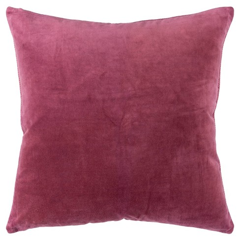 """22""""x22"""" Oversize Square Throw Pillow Cover Berry - Rizzy Home - image 1 of 4"""