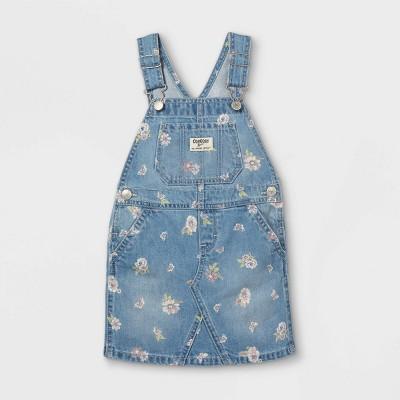 OshKosh B'gosh Toddler Girls' Floral Denim Dress - Blue