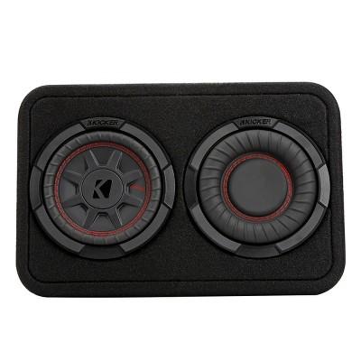 "Kicker 48TCWRT672 CompRT Dual 6.75"" 2-Ohm Subwoofer Enclosure"