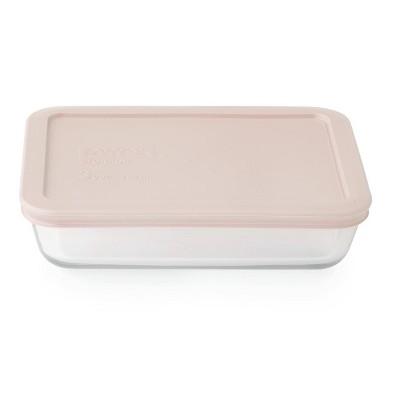 Pyrex 3 Cup Rectangular Food Storage Container Pink