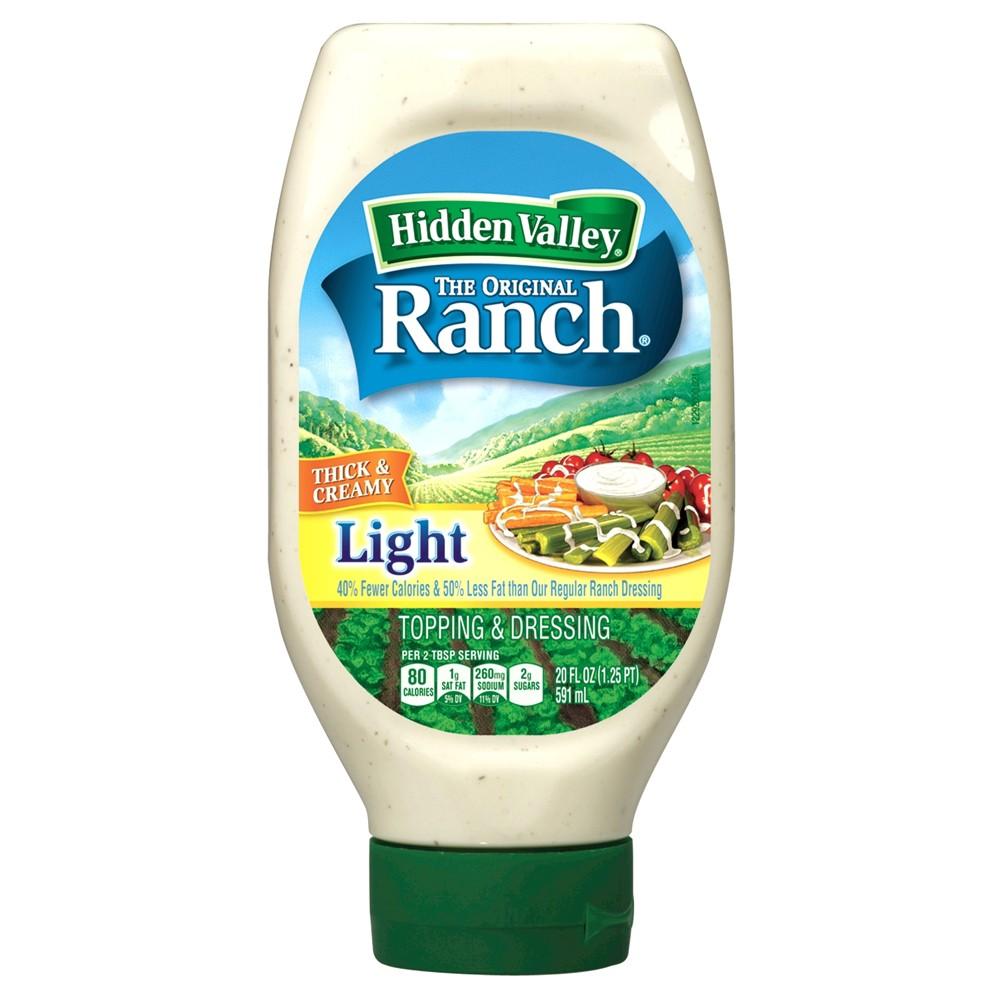 Hidden Valley Easy Squeeze Original Ranch Light Salad Dressing & Topping - Gluten Free - 20oz Bottle