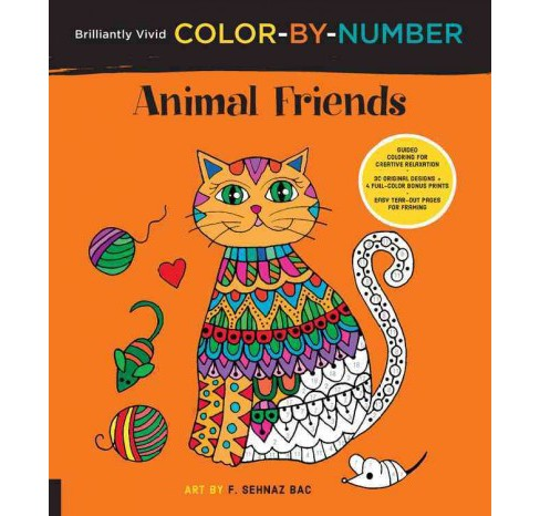 Animal Friends : Guided Coloring for Creative Relaxation: 30 Original Designs + 4 Full-Color Bonus - image 1 of 1