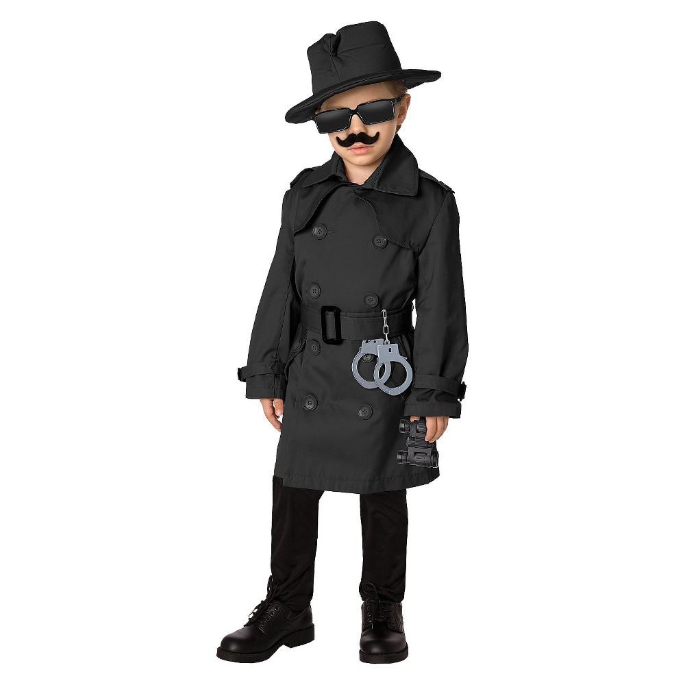 Kids' Spy Costume - Medium, Boy's, Size: M(7-8), Black