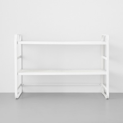 Two Tier Wire Mesh Shoe Rack White - Made By Design™
