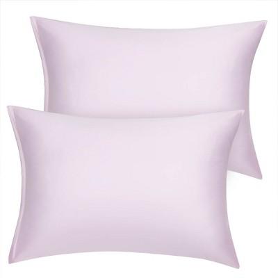 2 Pcs Toddler Silk Satin Pillowcase Lavender Gray - PiccoCasa