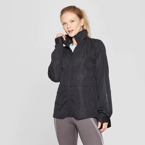Women's Woven Running Overcoat Jacket - C9 Champion® Black S - image 1 of 2