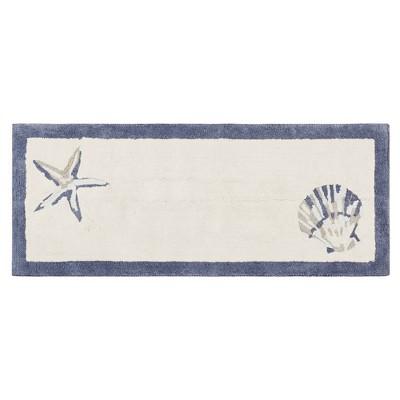 Rockaway Cotton Tufted Bath Rug Blue