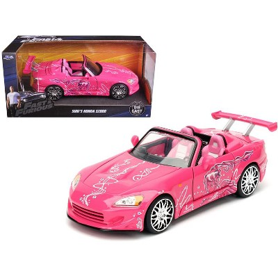Suki S 2001 Honda S2000 Pink Fast Furious Movie 1 24 Cast Model Car By Jada Target
