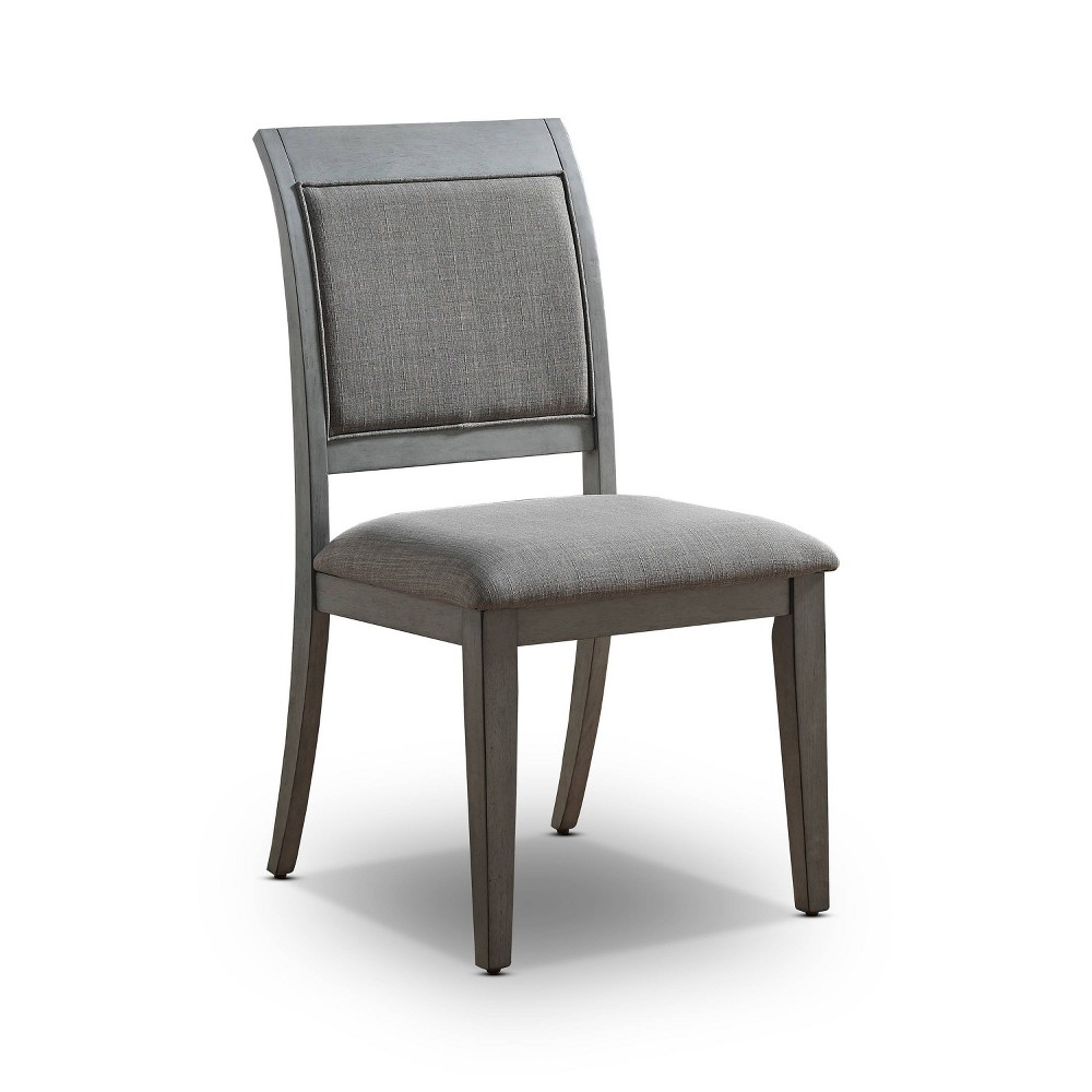 Coupons Set of 2 Newton Padded Seat Side Chair Gray - HOMES: Inside + Out