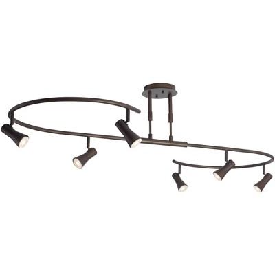 Pro Track 6 Light Bronze S-Wave LED Track Light Kit