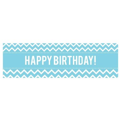 blue chevron birthday banner target