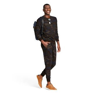 Men's Camo Print Jogger Sweatpants - 3.1 Phillip Lim for Target Blue/Brown S