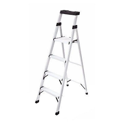 Rubbermaid Aluminum Ladder with Project Top, 5.5 Ft.