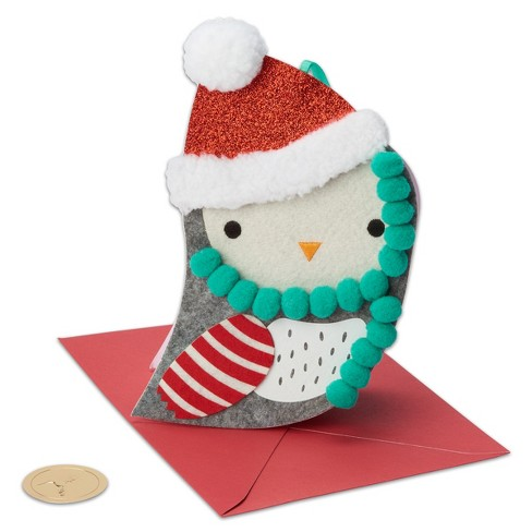 Papyrus Owl Felt Ornament Greeting Card - image 1 of 5