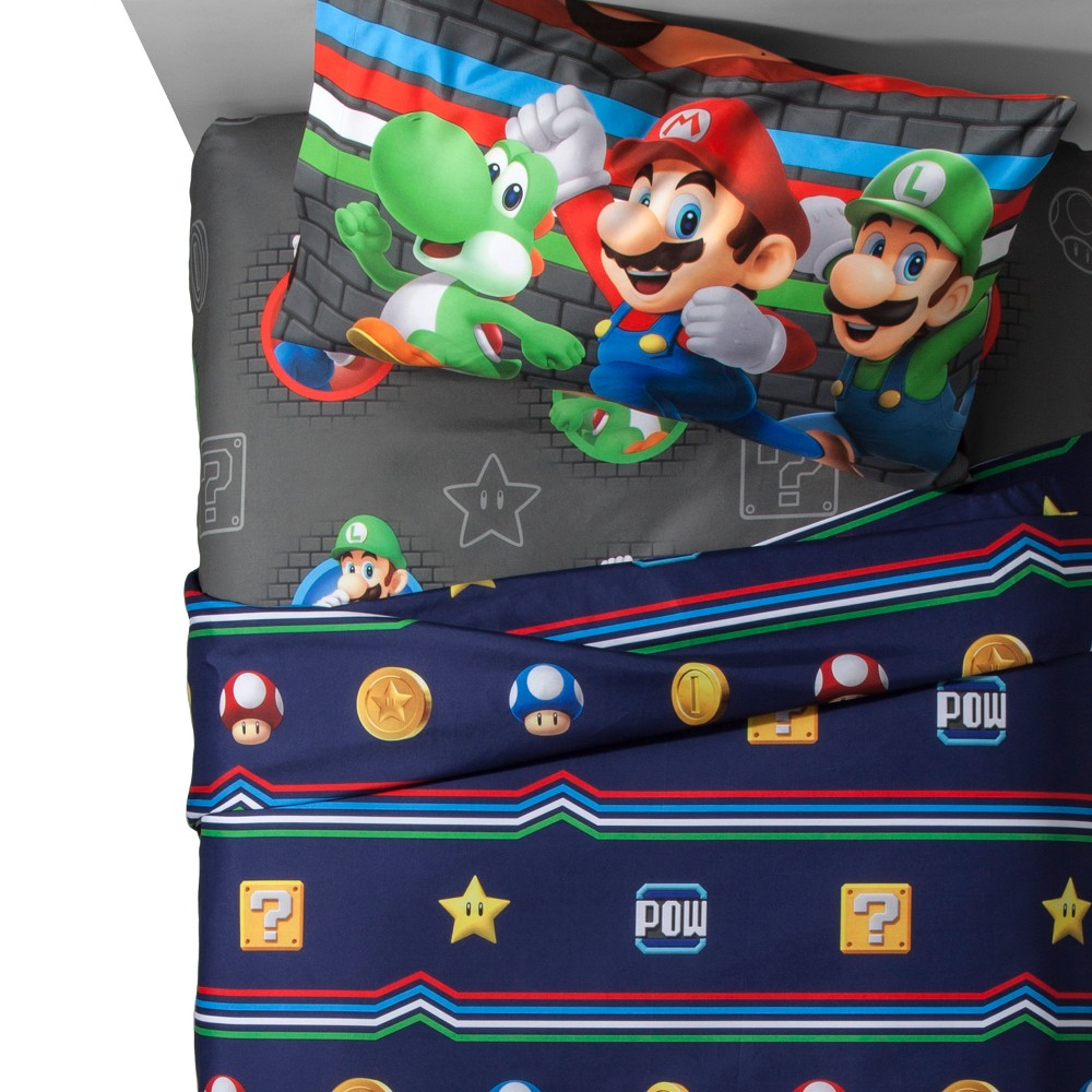 Image of Nintendo Mario Twin Sheet Sets