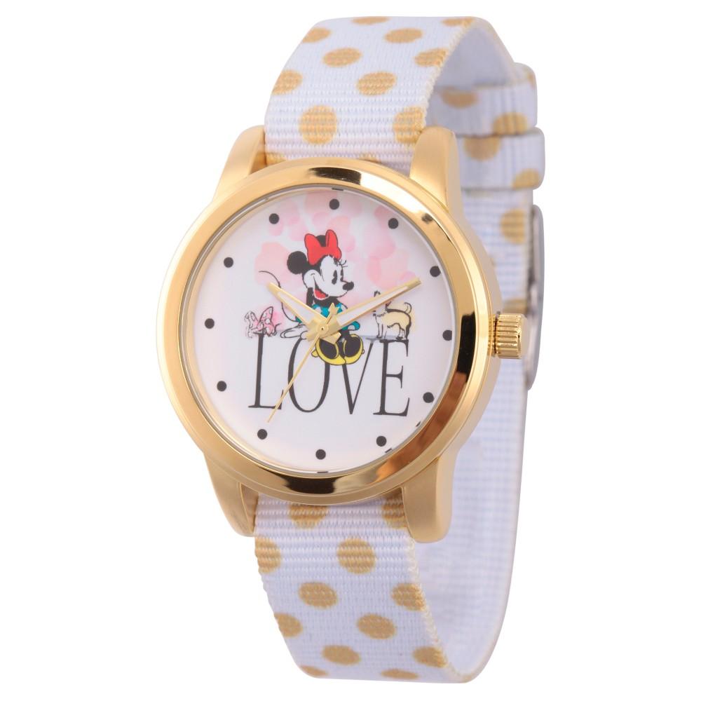 Women's Disney Minnie Mouse Gold Alloy Watch - White