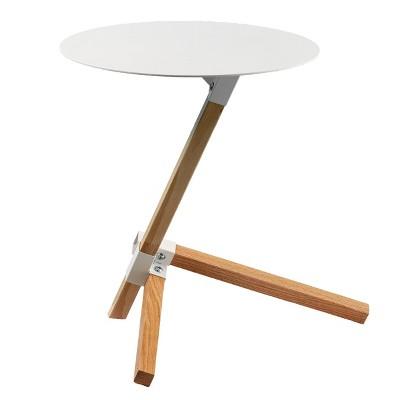 Ochina Round Accent Table White - Holly & Martin