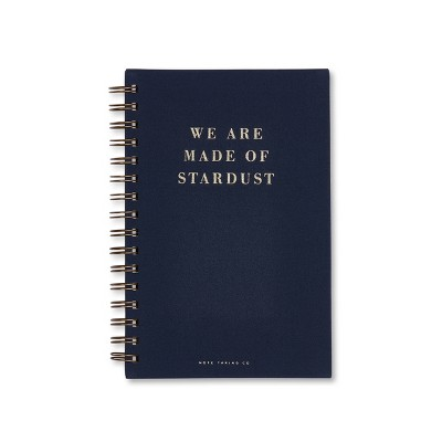 "1 Subject College Ruled Stardust Spiral Notebook 5.75""X 8.5"" Deep Blue   West Emory by West Emory"