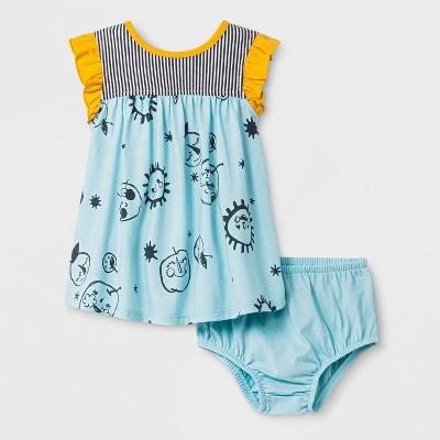 Baby Girls' Empire Dress - Cat & Jack™ Pastel Turquoise 12M