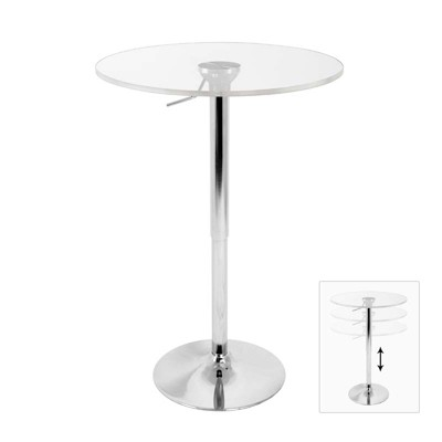 Adjustable Bar Table -  Clear - LumiSource
