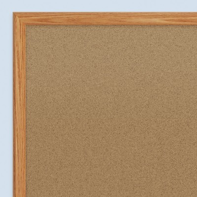 Quartet Basic Cork Bulletin Board Oak Frame 3' x 2' (85351) 168490