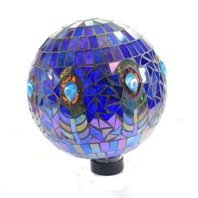 "Home & Garden 11.5"" Peacock Mosaic Globe Gazing Ball Yard Decor Echo Valley  -  Outdoor Sculptures And Statues"