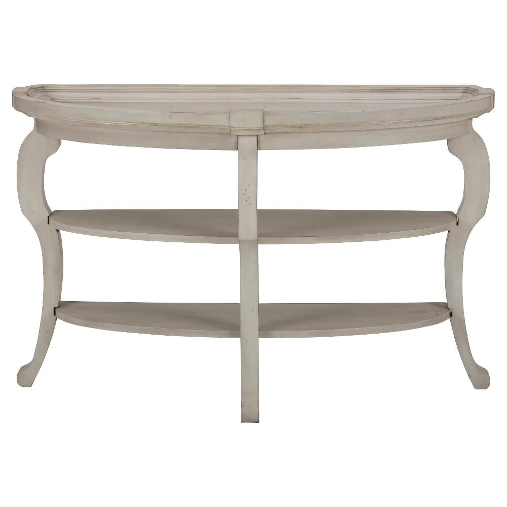 Sebastian Demilune Console Table Dove White - Jofran Inc.