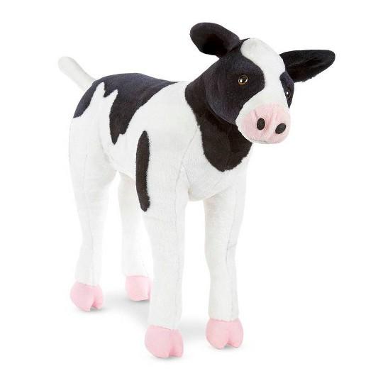 Melissa & Doug Giant Calf - Lifelike Stuffed Animal Baby Cow (2 feet tall) image number null