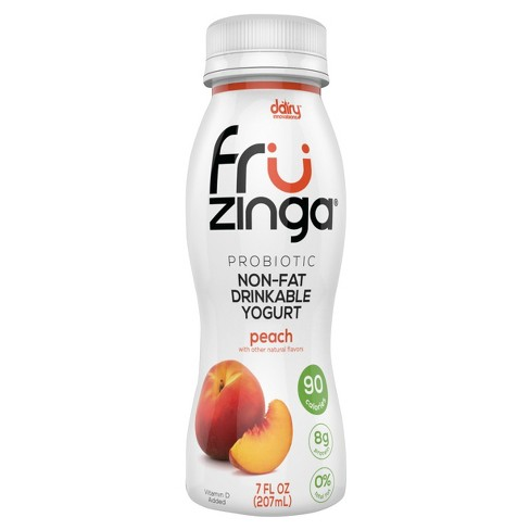 Fruzinga Peach Probiotic Non Fat Yogurt Drink - 7 fl oz - image 1 of 1