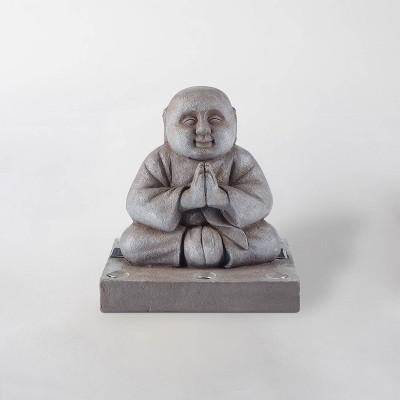 14  LED Solar Buddha Statue Gray - Smart Solar