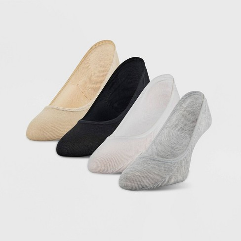 Peds Women's 4pk Liner Sock Assorted - Gray/White/Black/Nude 5-10 - image 1 of 3