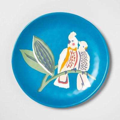 "9"" Melamine Love Birds Salad Plate Blue - Opalhouse™"
