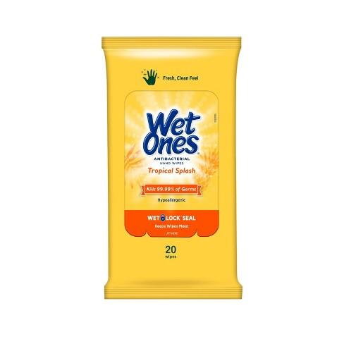 Wet Ones Antibacterial Hand Wipes Travel Pack - Tropical Splash - 20ct - image 1 of 3