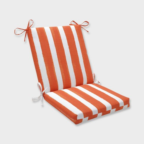Nico Marmalade Squared Corners Outdoor Chair Cushion Orange - Pillow Perfect - image 1 of 2