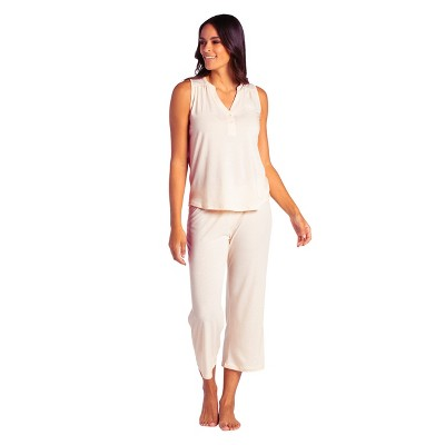 Softies Women's Sleeveless Capri-Length PJ Set