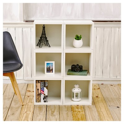 Way Basics 6 Stackable Eco Cubes Storage, White   Formaldehyde Free    Lifetime Guarantee : Target