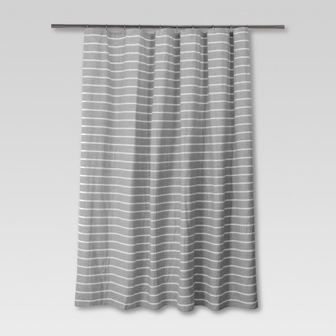 Stripe Shower Curtain Radiant Gray