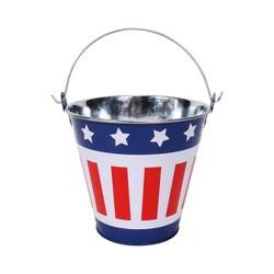 Small Tin Bucket Red White Blue - Sun Squad™