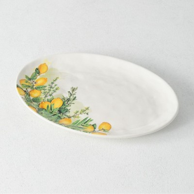 "Sullivans Hill Country Dolomite Platter 1""H Yellow"