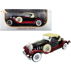 1930 Packard 734 Boattail Speedster Black 1/18 Diecast Model Car by Signature Models