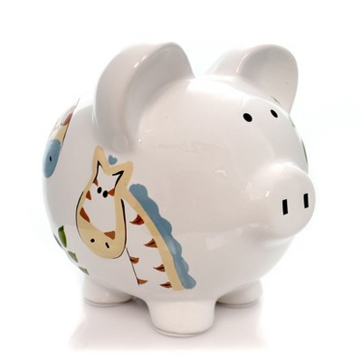 "Bank 7.5"" Jungle Jack Piggy Bank Monkey Cat Giraffe  -  Decorative Banks"